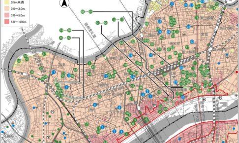 淀川のハザードマップ