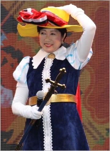 小池百合子・リボンの騎士サファイア仮装2