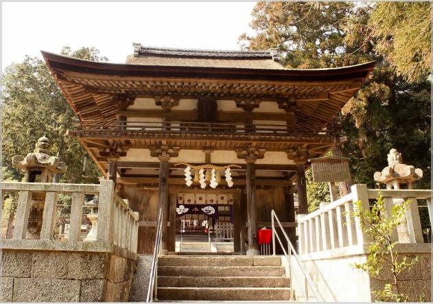 大野神社・楼門(嵐)
