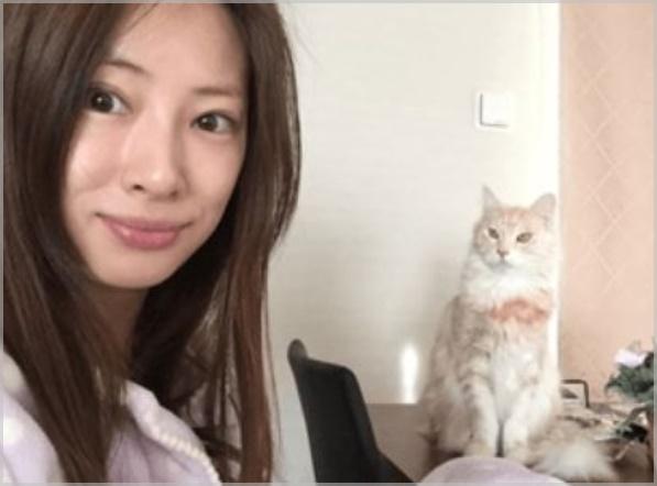 北川景子の寝起きのすっぴん写真