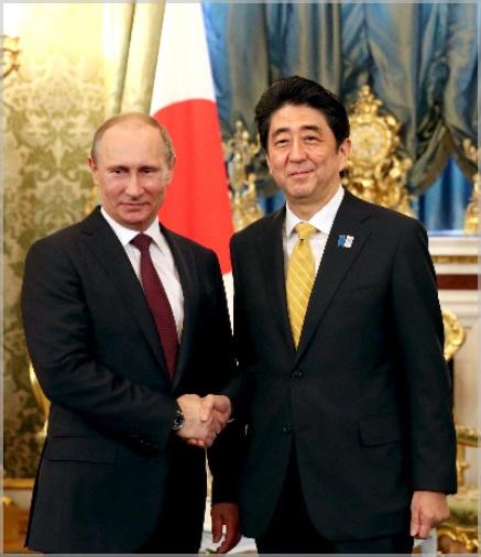 安倍晋三とプーチン大統領の身長