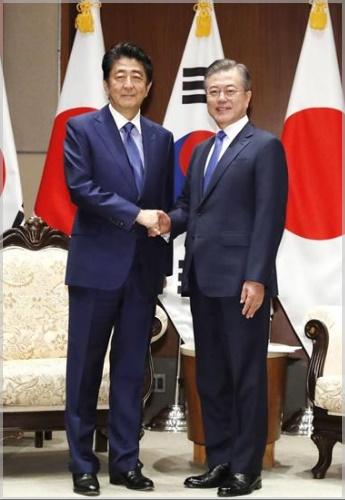 安倍晋三と韓国大統領