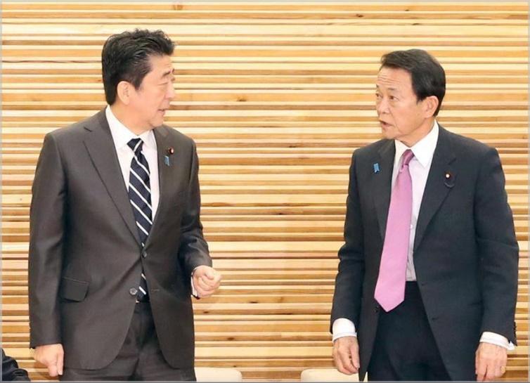 安倍晋三と麻生太郎の身長差