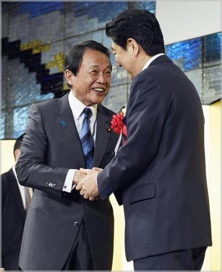 安倍晋三と麻生太郎の身長