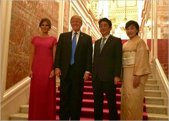 安倍晋三の身長が高い!トランプ大統領と比較