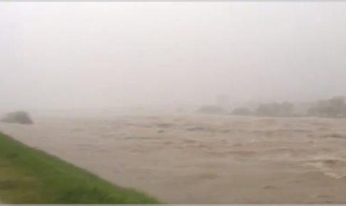 多摩川氾濫動画&画像
