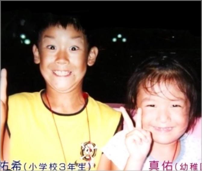 石川祐希の子供時代の画像